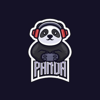 Panda e-sport team game logo emblem