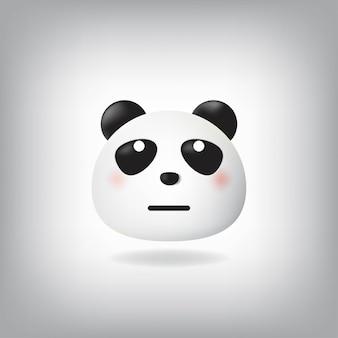 Panda emoticon mit rollenden augen