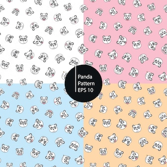 Panda emoticons nahtlose muster