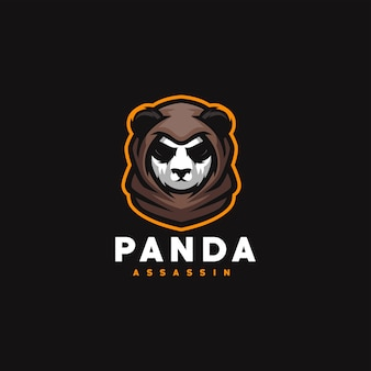 Panda gaming sport logo design