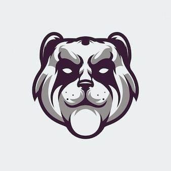 Panda gesicht logo