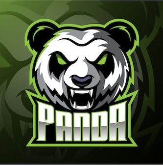 Panda kopf maskottchen logo