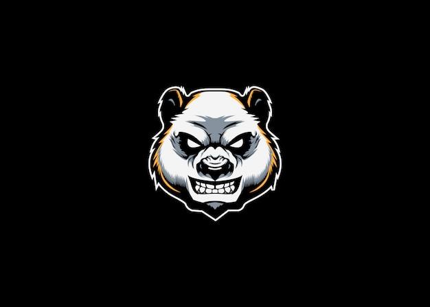 Panda kopf maskottchen