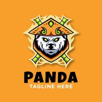 Panda logo design vorlage