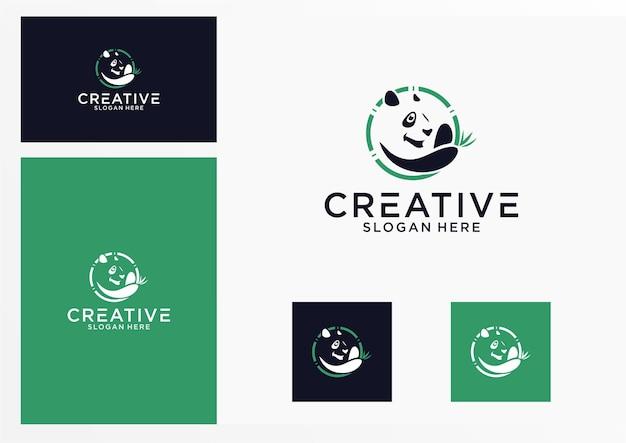 Panda-logo-grafikdesign für andere zwecke ist perfekt