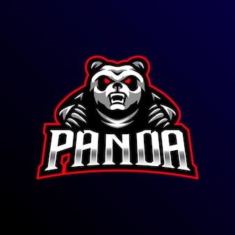 Panda maskottchen logo esport spiel