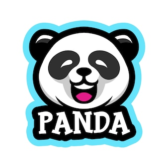 Panda maskottchen logo illustration