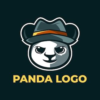 Panda maskottchen logo vorlagen