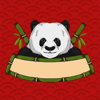 Panda-Maskottchen-Logo