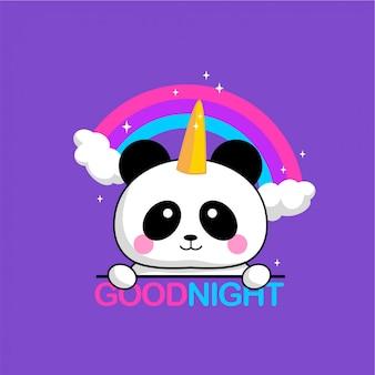 Panda-regenbogen