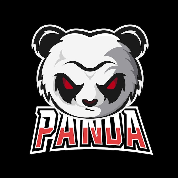 Panda sport- und esport-gaming-maskottchen-logo