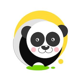 Panda-symbol für grafikdesign