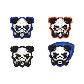 Panda verwenden maskenvektordesign