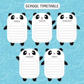 Panda-zeitplan