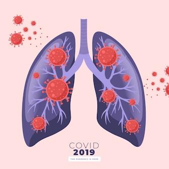 Pandemie auf lungenkonzept