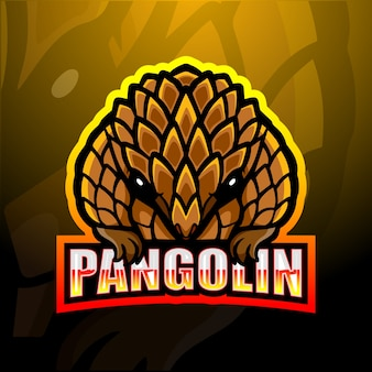 Pangolin maskottchen esport illustration