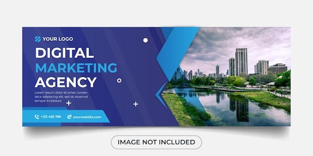 Panorama-banner-vorlage der digitalen marketingagentur