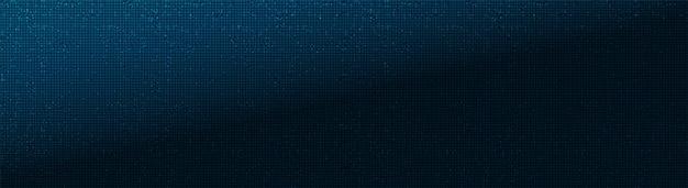 Panorama blue microchip auf technologischem hintergrund, hightech-digital und sicherheit