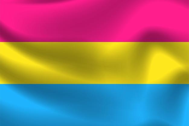Pansexuelle flagge für lgbtq-freie vektorillustration