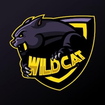 Panther-logo im e-sport-stil