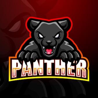 Panther maskottchen esport logo illustration