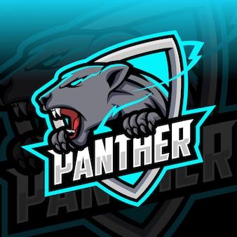 Panther maskottchen esport logo