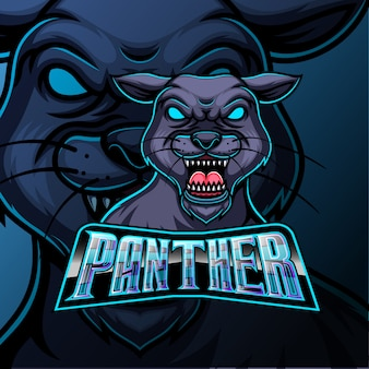 Panther maskottchen sport e sport logo design