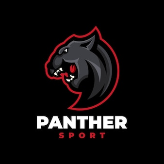 Panther sport modernes logo - große katze wilde illustration
