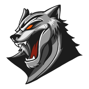 Panther vektor illustration kopf isoliert