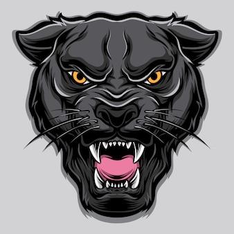 Panther-vektorkopf