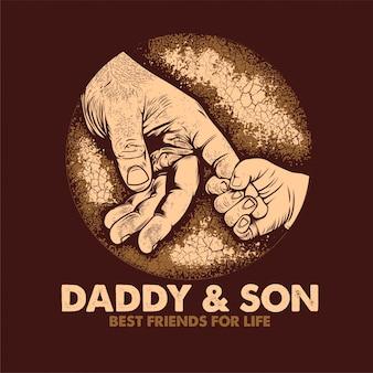 Papa & sohn beste freunde fürs leben poster