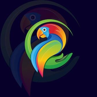 Papagei logo e sport