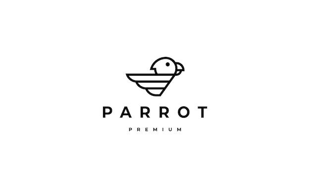 Papagei logo monogramm design vektor