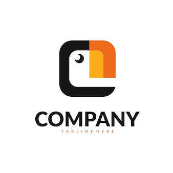 Papageientaucher-logo-vektor