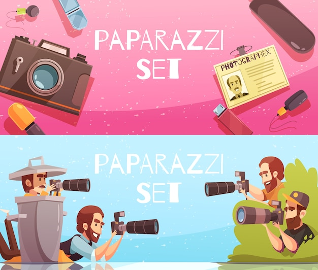 Paparazzi-horizontale fahnen-sammlung
