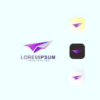 Paper plane premium logo