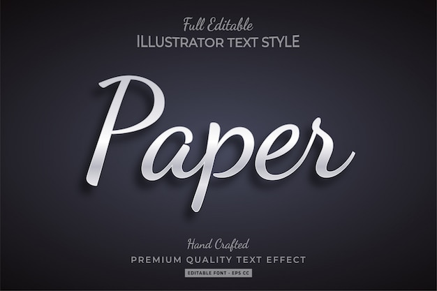 Paper text style effect premium
