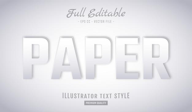 Paper text style effect premium