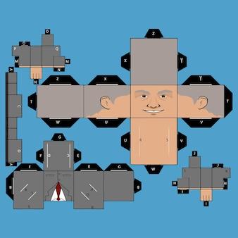 Papercraft alter mann