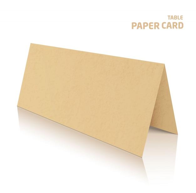 Papercraft karte der tabelle 3d getrennt
