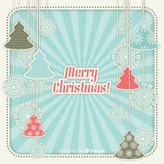 Papercut-hintergrund der frohen weihnachten