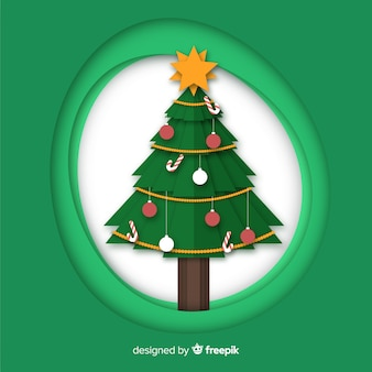 Papercut-weihnachtsbaum