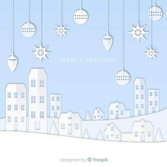 Papercut weihnachtsstadt