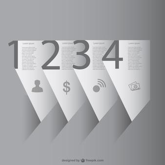 Papier 3d-vektor-infografik