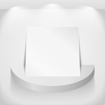 Papier auf rundem regal