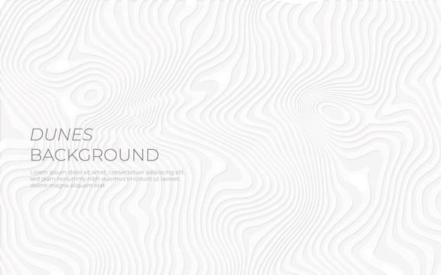 Papier-effekt der weißen dünen im hintergrund