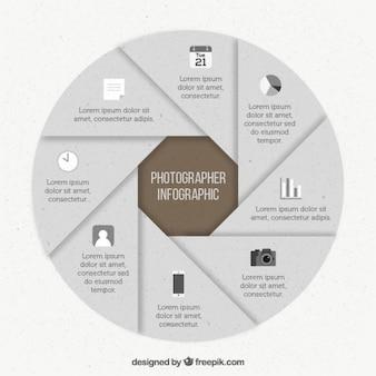 Papier fotografen infografik