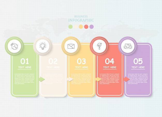 Papier für text infografik für unternehmen