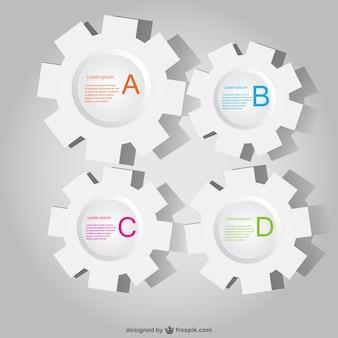 Papier gang infografiken