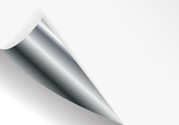 Papier gebogene ecke zum freien ausfüllen von weißer farbe